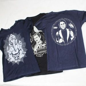 Tops - Tesla, Carl Sagan and Ganesha t-shirts sz M